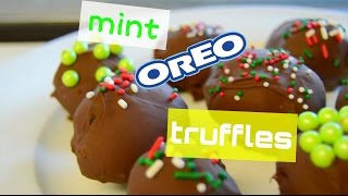 AMAZING mint oreo truffles!!! easy and fast no-bake