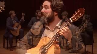 Mēla Guitar Quartet play Bacchanale by Saint-Saëns