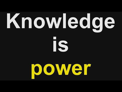 Knowledge is power part 1 of 2