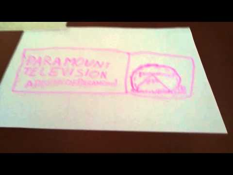 Paramount split box logo with love film pink skin