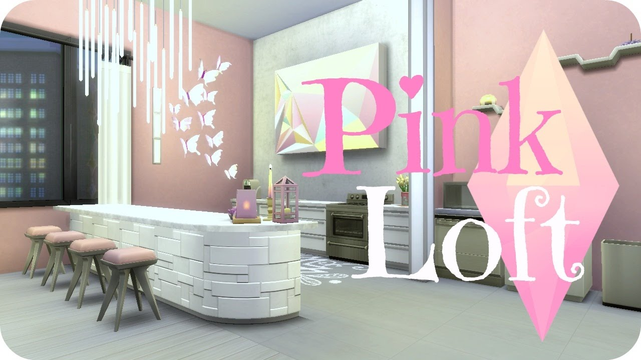 Sims 4 City Living Pink Amp Modern Apartment Youtube