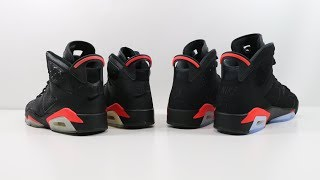Comparison - Air Jordan 6 VI Black Infrared | OG vs 2000 vs 2014 vs 2019