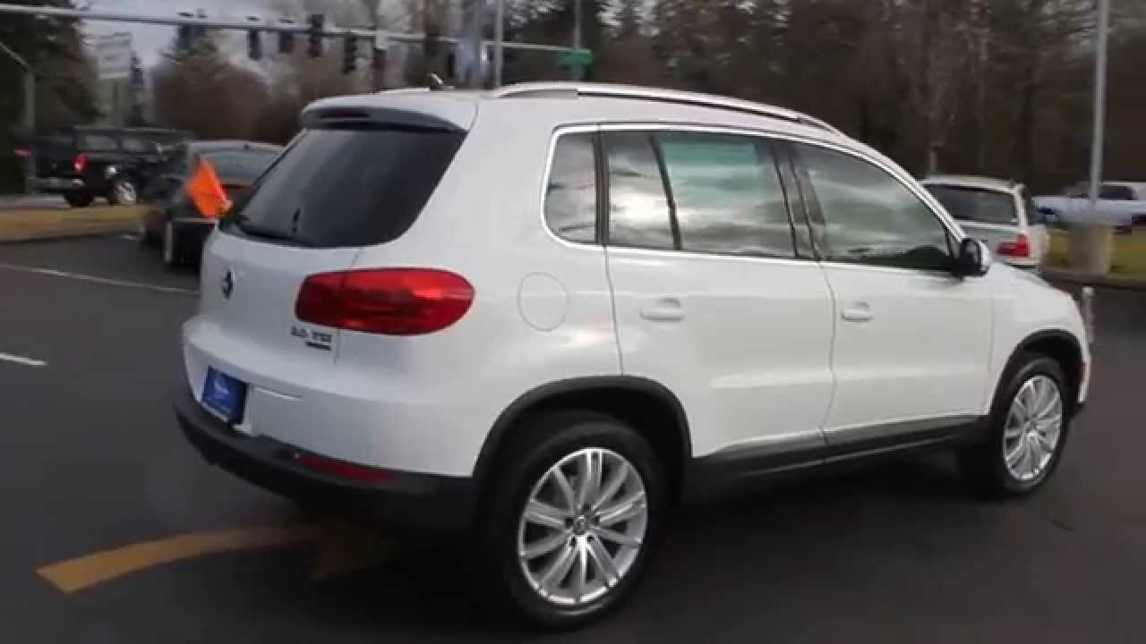 2015 volkswagen tiguan pure white stock 110286 walk. Black Bedroom Furniture Sets. Home Design Ideas
