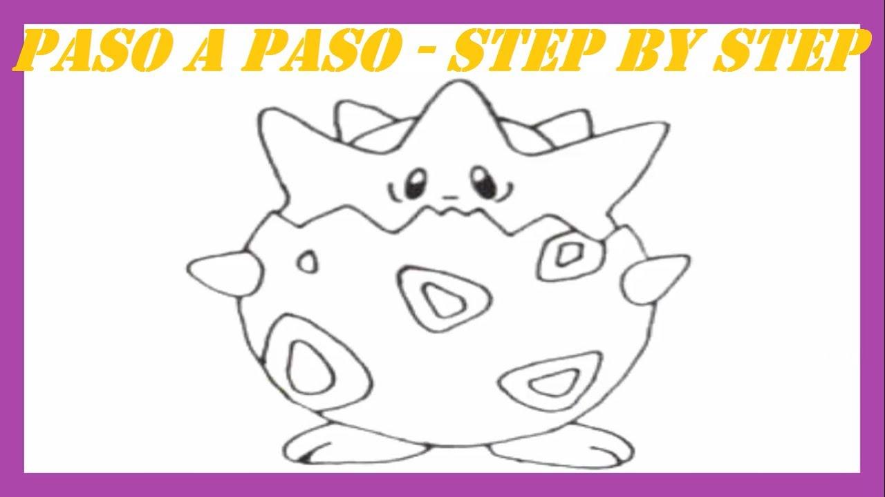 Como dibujar a Togepi Pokmon l How to draw Pokemon Togepi  YouTube