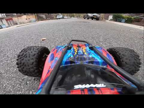 Traxxas Rustler hits 52 mph Hero 7 black
