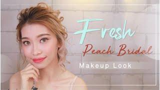 Fresh Peach Bridal Makeup Look 🥰 🌹