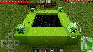 Entering the Creeper Portal in Minecraft Pocket Edition (NO ADDONS)