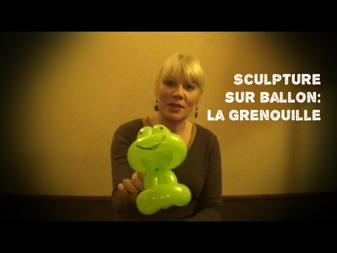 sculpture sur ballon la grenouille youtube. Black Bedroom Furniture Sets. Home Design Ideas