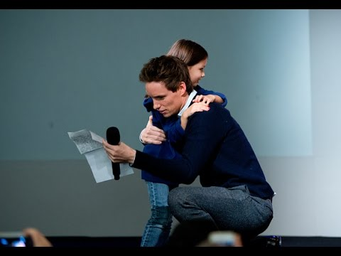 Eddie Redmayne Gets Surprise Gift at  for The Theory of Everything