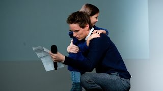 Eddie Redmayne Gets Surprise Gift at Interview for The Theory of Everything