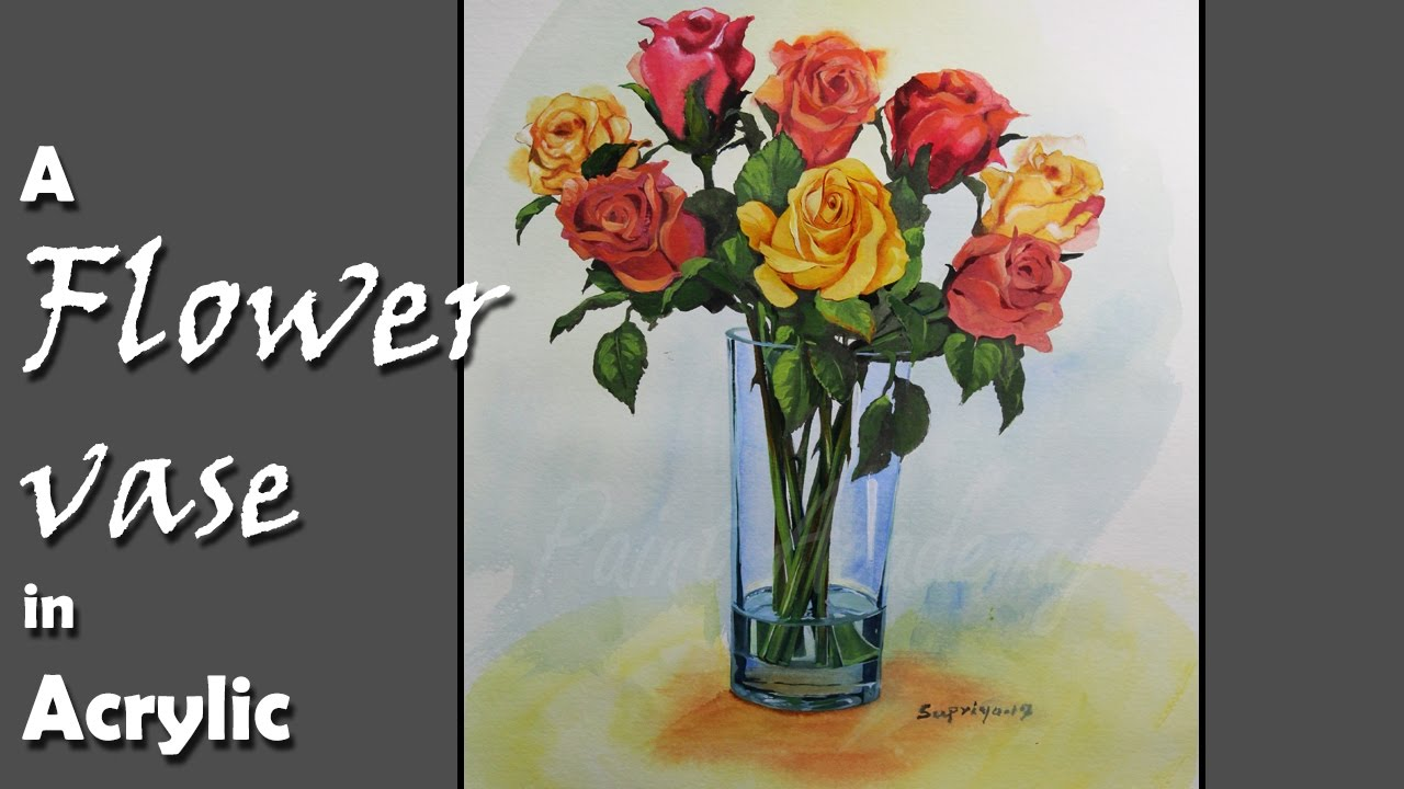 How to paint flowers in the vase in acrylic step by step youtube how to paint flowers in the vase in acrylic step by step reviewsmspy