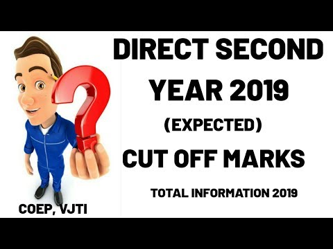 DIRECT SECOND YEAR CUT OFF MARKS