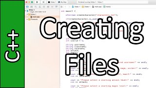 Creating Files - C++ Programming Tutorial #51 (PC / Mac 2015)