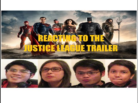 REACTIONS: REACTING TO A MOVIE TRAILER JUSTICE LEAGUE MOVIE 2017