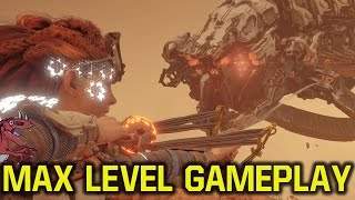 Horizon Zero Dawn gameplay - MAX LEVEL + BEST WEAPONS + BEST ARMOR (Horizon Zero Dawn max level)