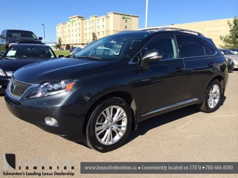 Pre Owned Grey On Black 2010 Lexus Rx 450h Hybrid Awd Ultra Premium Package Review Leduc Ab