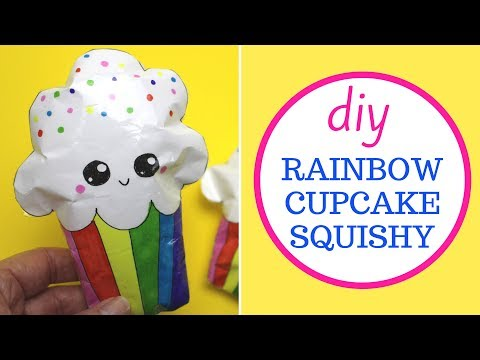 Paper Squishy DIY | Rainbow Cupcake