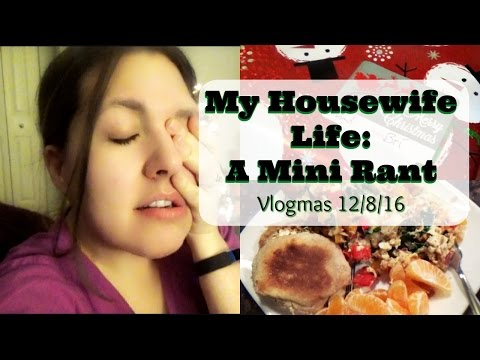 My Housewife Life: A Mini Rant | Vlogmas 12/8/16