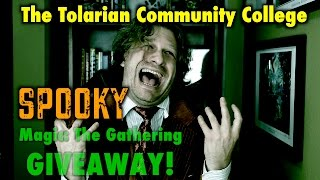 the tolarian community college spooky halloween magic the gathering deck giveaway