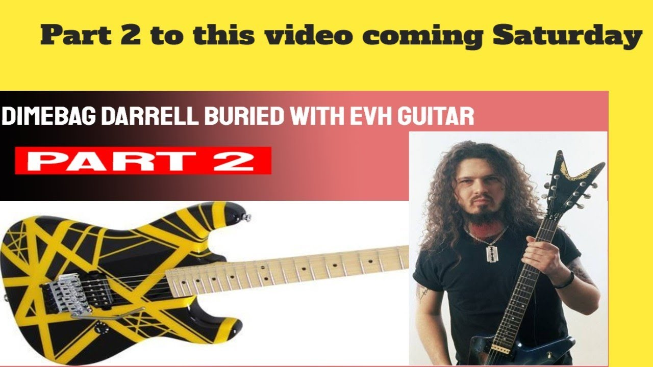 was pantera 39 s dimebag darrell buried with eddie vanhalen 39 s guitar youtube. Black Bedroom Furniture Sets. Home Design Ideas