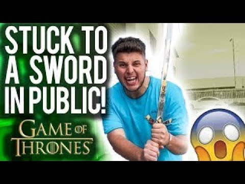 SUPERGLUED MY BRO TO A GAME OF THRONES SWORD