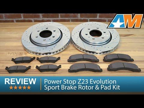 8 Ceramic Pad -Combo Brake Kit F+R Full Kit 4 Heavy Duty Zinc Plated Cross Drill Rotors 6lug