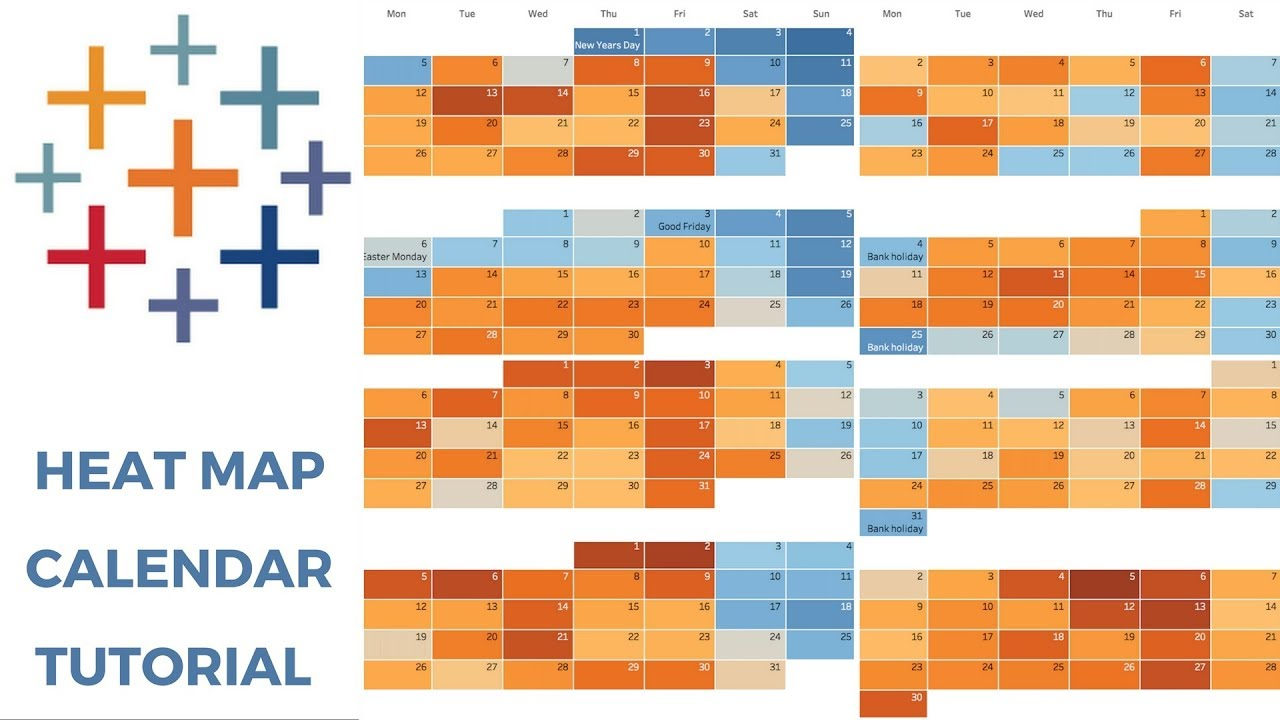 Heat Map Tableau TABLEAU HEAT MAP CALENDAR   YouTube Heat Map Tableau
