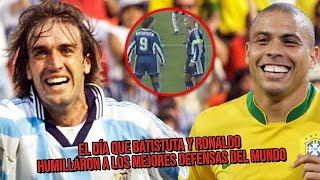 El día que Batistuta y Ronaldo humillaron a LOS MEJORES defensas del mundo