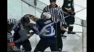 ahl san antonio utah hockey fight lee goren vs dan jancevski 10 22 03
