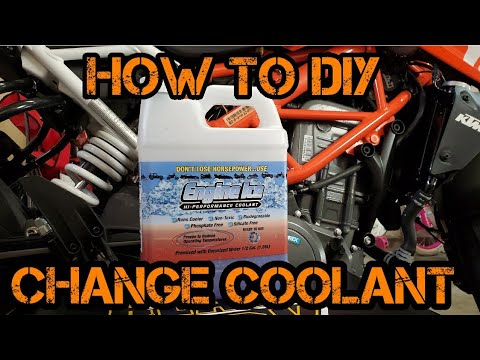 How To: Coolant Flush And Exchange For Motorcycles / Engine Ice Coolant