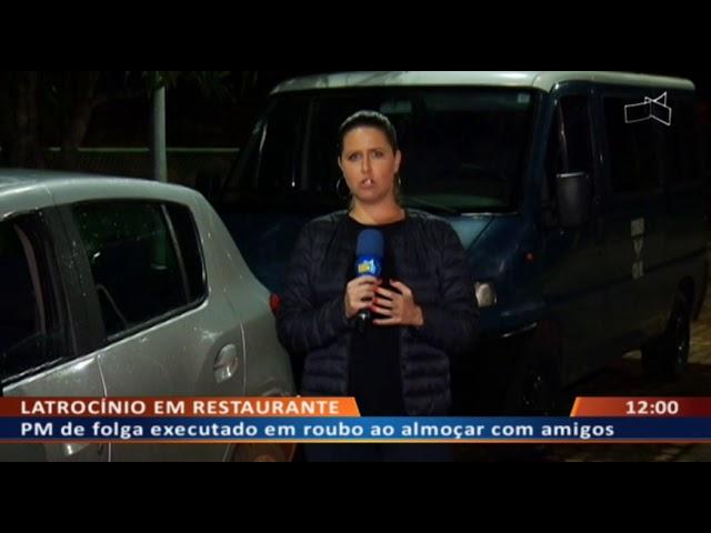 DF ALERTA - PM de folga executado em roubo ao almoçar com amigos
