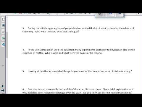 Unit 1 Lesson 01 Atomic Structure Questions/Answers