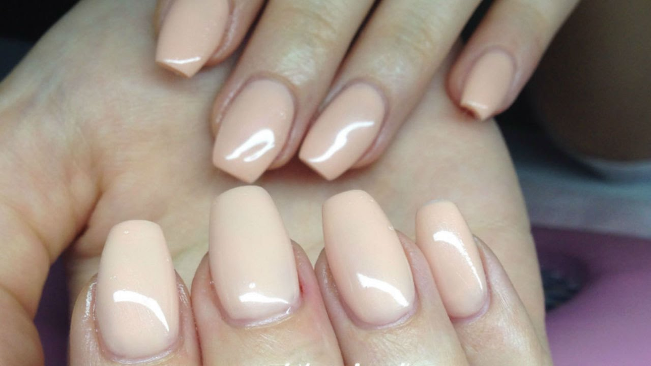 - ♡ How To: Easy Solid Color Gelnails - YouTube