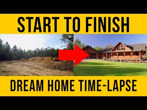 Home Construction Start to Finish - Building a New House Time Lapse!