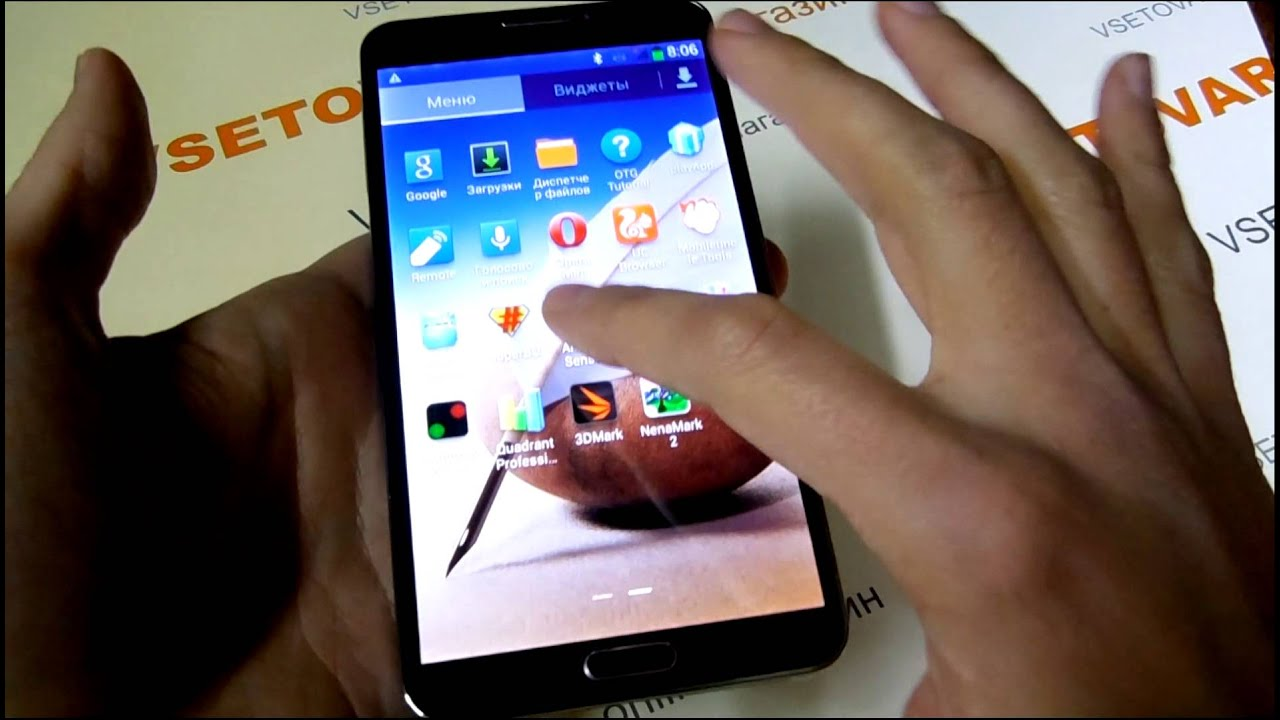 Копия Samsung Galaxy Note 3 - китайцы молодцы). - YouTube