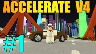 BEST CAR GAME IN ROBLOX! - Accelerate V4 EP 1