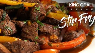 Gambar cover KING of all STEAK Stir-Fry LOMO SALTADO | Guga Foods