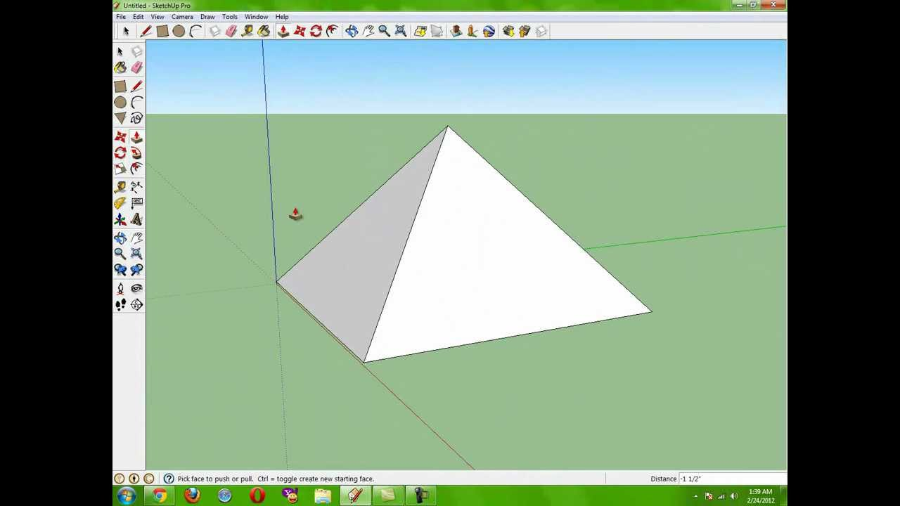 How To Make The Perfect Pyramid The Easy Way Google Sketchup Pro