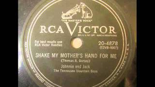 Johnnie and Jack   Shake My Mother