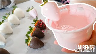 HOW TO MAKE CHOCOLATE COVERED STRAWBERRIES! *EASY*