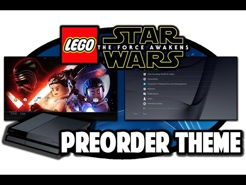 [PS4 THEMES]  Lego Star Wars The Force Awakens Preorder Theme Video in 60FPS