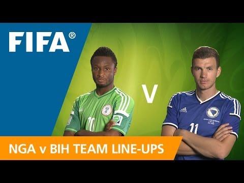 Nigeria v. Bosnia & Herzegovina - Teams Announcement