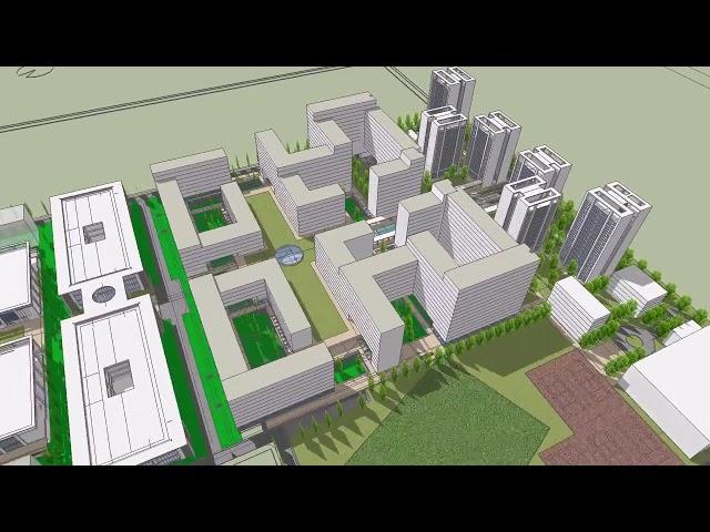 Futuristic model virtual tour