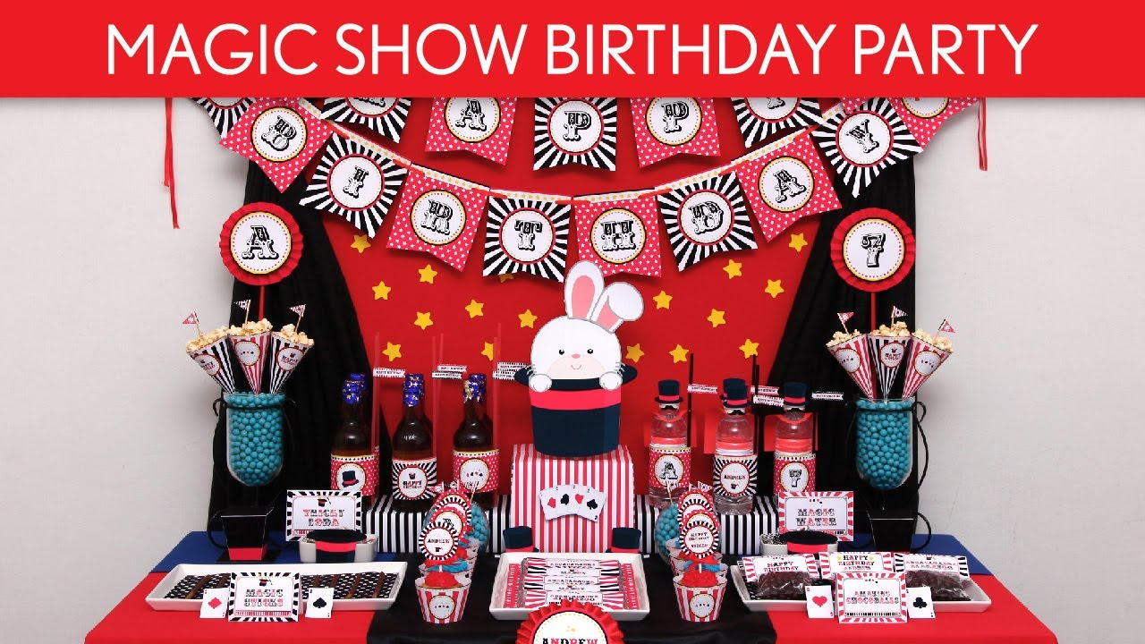 Magic show birthday party ideas magic show b100 youtube for B day decoration ideas