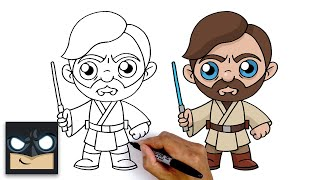 How To Draw Obi-Wan Kenobi | Star Wars Episode 3