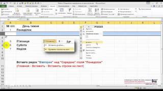 Вставка (удаление) строк. Курсы MS Excel - Эксперт (фрагмент онлайн-урока)