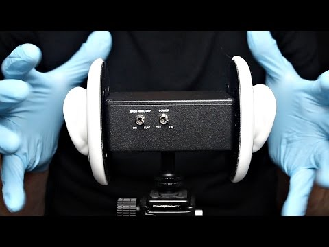 ASMR 3Dio Pure Latex Gloves Sounds, Finger and Hand Movements, Jazz Hands (No Talking)