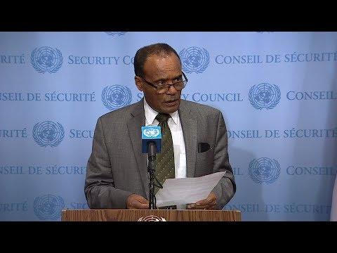 SC President (Ethiopia) on Non-proliferation / D.P.R.Korea - Media Stakeout (15 September 2017)