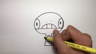 How to draw Scraggy, pokemon by armadillotv