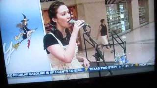 Mindy Bell on Channel 11 winning the National Dorothy competition in Dallas